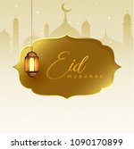 greeting design for eid festival   Shutterstock .eps vector #1090170899