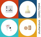 icon flat games set of lotto ... | Shutterstock . vector #1090173344