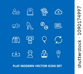 modern  simple vector icon set...   Shutterstock .eps vector #1090174997