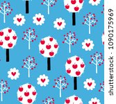 fairytale cute seamless pattern.... | Shutterstock .eps vector #1090175969