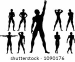 a man standing upright  various ...   Shutterstock .eps vector #1090176