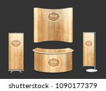 blank trade show booth... | Shutterstock .eps vector #1090177379