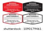 plastic bag warning sticker... | Shutterstock .eps vector #1090179461