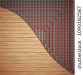 floor heating system under... | Shutterstock .eps vector #1090182587
