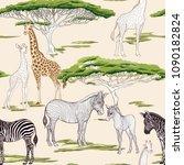 seamless pattern  background ...   Shutterstock .eps vector #1090182824