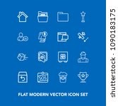 modern  simple vector icon set...   Shutterstock .eps vector #1090183175