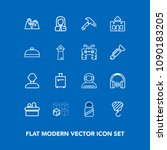 modern  simple vector icon set... | Shutterstock .eps vector #1090183205