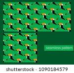 seamless toucans pattern.... | Shutterstock .eps vector #1090184579