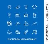 modern  simple vector icon set...   Shutterstock .eps vector #1090185941