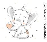 vector illustration of a cute... | Shutterstock .eps vector #1090192691
