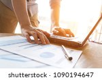 business man analyzing graph... | Shutterstock . vector #1090194647