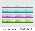 web site design menu navigation ... | Shutterstock .eps vector #1090196429