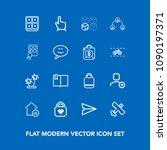 modern  simple vector icon set... | Shutterstock .eps vector #1090197371