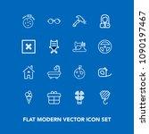 modern  simple vector icon set... | Shutterstock .eps vector #1090197467