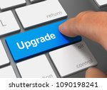 upgrade pushing keyboard with... | Shutterstock . vector #1090198241