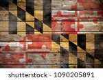 maryland flag wood | Shutterstock . vector #1090205891