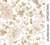light floral pattern. vector... | Shutterstock .eps vector #1090207841