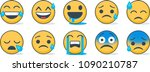 set of emoticons. set of emoji. ... | Shutterstock .eps vector #1090210787
