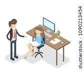 working process set. business...   Shutterstock .eps vector #1090213454