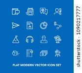 modern  simple vector icon set...   Shutterstock .eps vector #1090217777