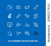 modern  simple vector icon set...   Shutterstock .eps vector #1090217915
