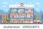 children hospital building in... | Shutterstock .eps vector #1090218371