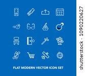 modern  simple vector icon set...   Shutterstock .eps vector #1090220627
