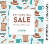 father's day sale design   ... | Shutterstock .eps vector #1090220651