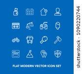 modern  simple vector icon set... | Shutterstock .eps vector #1090220744