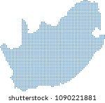 south africa map dots vector...   Shutterstock .eps vector #1090221881