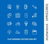 modern  simple vector icon set...   Shutterstock .eps vector #1090223831