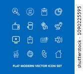 modern  simple vector icon set... | Shutterstock .eps vector #1090225595