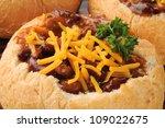 Chili Con Carne In A Bread Bow...