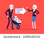 pension fund investment. old...   Shutterstock .eps vector #1090230131