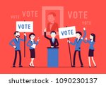 election campaign voting....   Shutterstock .eps vector #1090230137