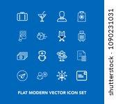 modern  simple vector icon set...   Shutterstock .eps vector #1090231031