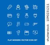 modern  simple vector icon set...   Shutterstock .eps vector #1090231211
