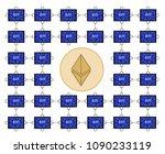 block chain technology of... | Shutterstock .eps vector #1090233119