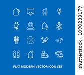 modern  simple vector icon set... | Shutterstock .eps vector #1090233179