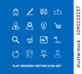 modern  simple vector icon set... | Shutterstock .eps vector #1090233257