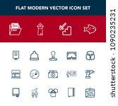 modern  simple vector icon set... | Shutterstock .eps vector #1090235231