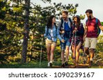 shot of a group of friends... | Shutterstock . vector #1090239167