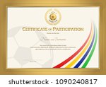 certificate template in... | Shutterstock .eps vector #1090240817