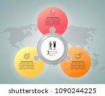 design infographic template 3... | Shutterstock .eps vector #1090244225