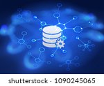data storage concept. cloud... | Shutterstock . vector #1090245065