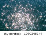 glare on the water in the form... | Shutterstock . vector #1090245344