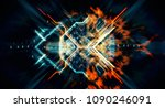 abstract technological... | Shutterstock . vector #1090246091