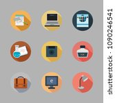 icons school with computer  ink ... | Shutterstock .eps vector #1090246541