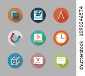 icons school with cube  clock... | Shutterstock .eps vector #1090246574