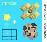 mineral perovskite. mineral... | Shutterstock .eps vector #1090246931